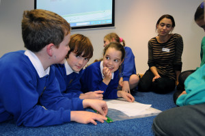 Primary school children take part in a Fairtrade conference and workshops at the Isle of Man Government Offices, November 7, 2013.