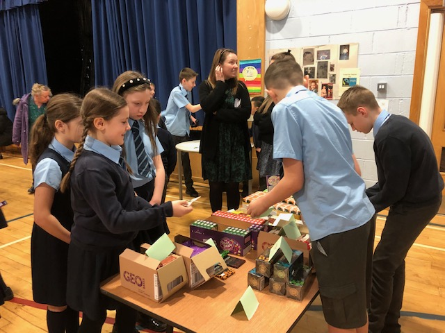 St. Mary's Primary School's Global Group in full swing at their Fairtrade Coffee Morning