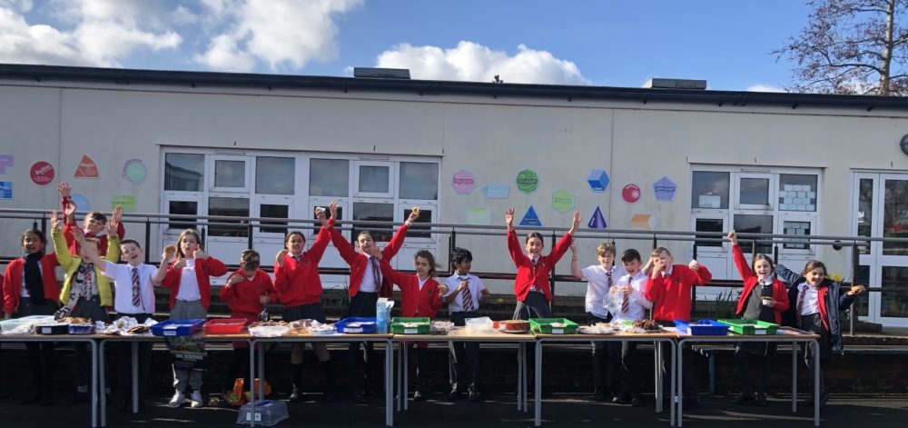 A bake sale at Cheam Common Junior Academy