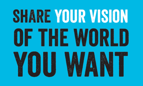 Share your vision of the world you want – An activity for young people ages 5-25